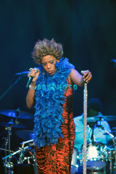 Macy Gray was the opening act as Seal performs in concert at Revel's 'Ovation Hall' in Atlantic City, NJ