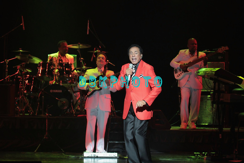 ATLANTIC CITY, NJ - APRIL 21:  Smokey Robinson and the backup band performs at Caesars Circus Maximus Theater on April 21, 2012 in Atlantic City, New Jersey