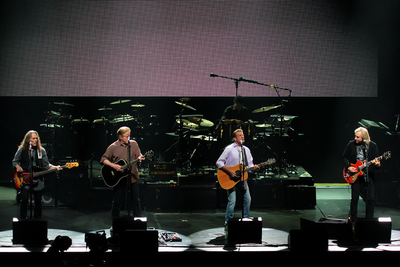 Atlantic City, NJ  The Eagles landed in the Ovation Room at Revel in Atlantic City September 2, 2012.<br /> L-R  TIMOTHY B. SCHMIT; DON HENLEY; GLENN FREY; JOE WALSH