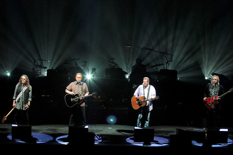 Atlantic City, NJ  The Eagles landed in the Ovation Room at Revel in Atlantic City September 2, 2012.<br /> L-R  TIMOTHY B. SCHMIT; DON HENLEY; GLENN FREY; JOE WALSH