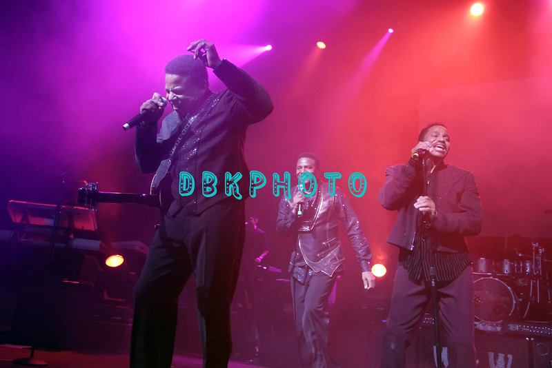 ATLANTIC CITY, NJ - JUNE 29:  L-R  Tito Jackson, Jackie Jackson and  Marlon Jackson performs during the The Jacksons Unity Tour at The Borgata Event Center on June 29, 2012 in Atlantic City, New Jersey.
