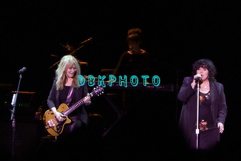 ATLANTIC CITY, NJ - JANUARY 26: Nancy Wilson and  Ann Wilson of Heart performs in concert at Caesars Atlantic City on January 26, 2013 in Atlantic City, New Jersey.