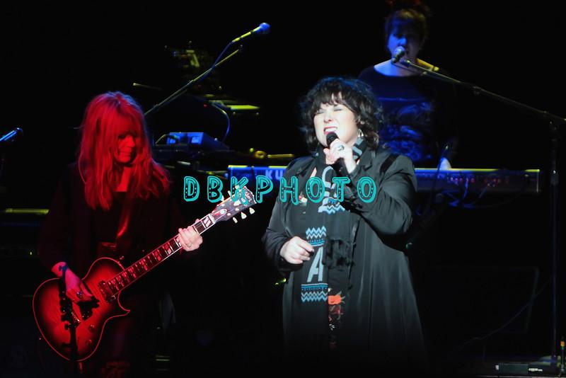 ATLANTIC CITY, NJ - JANUARY 26:  Nancy Wilson and  Ann Wilson of Heart performs in concert at Caesars Atlantic City on January 26, 2013 in Atlantic City, New Jersey.