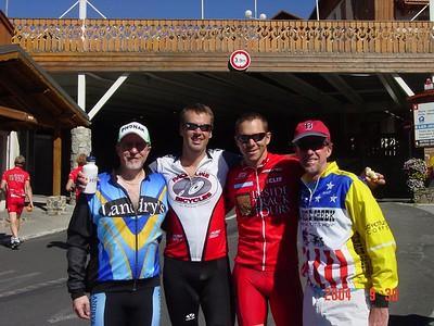 Mark, Jim, Chris and Rick relish their accomplishments of the day
