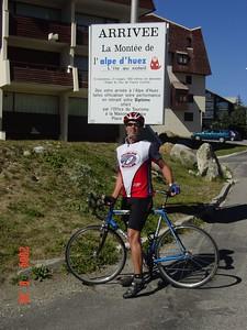 Jim Martin, a southern boy celebrates his climb
