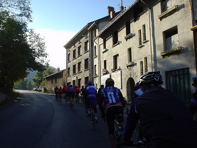 The cyclists travel through many wonderful towns