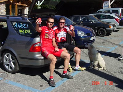 Relaxation at the top of the Alpe d'Huez
