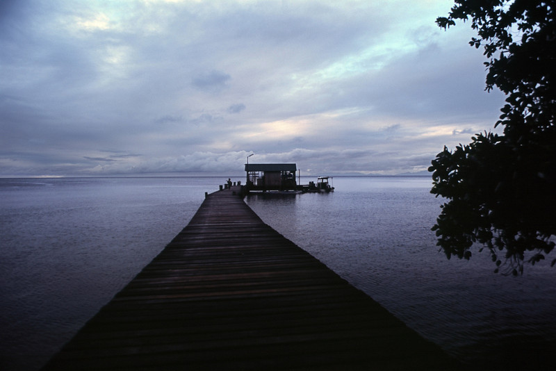 A Boat Dock at Tawali Resort, Milne Bay Province PNG 2008