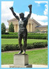Rocky Statue - Narrow Blue Frame in Image
