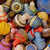 Handmade baskets in Dakar, Senegal