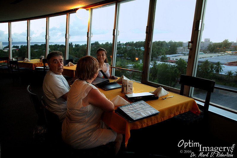 360 is Saipan's only rotating restaurant -- or at least the only one that's SUPPOSED to rotate!