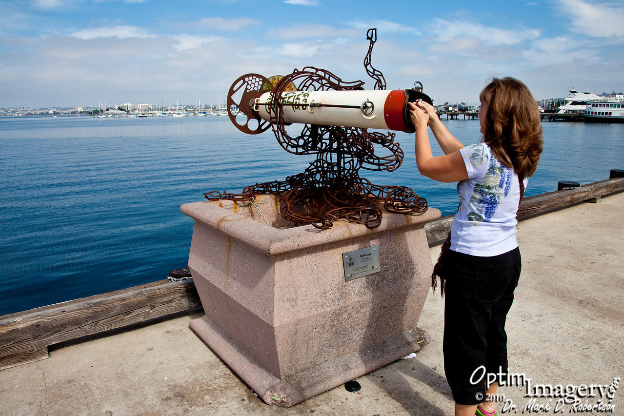 Back on the San Diego Waterfront.  The largest kaleidescope I have ever seen.