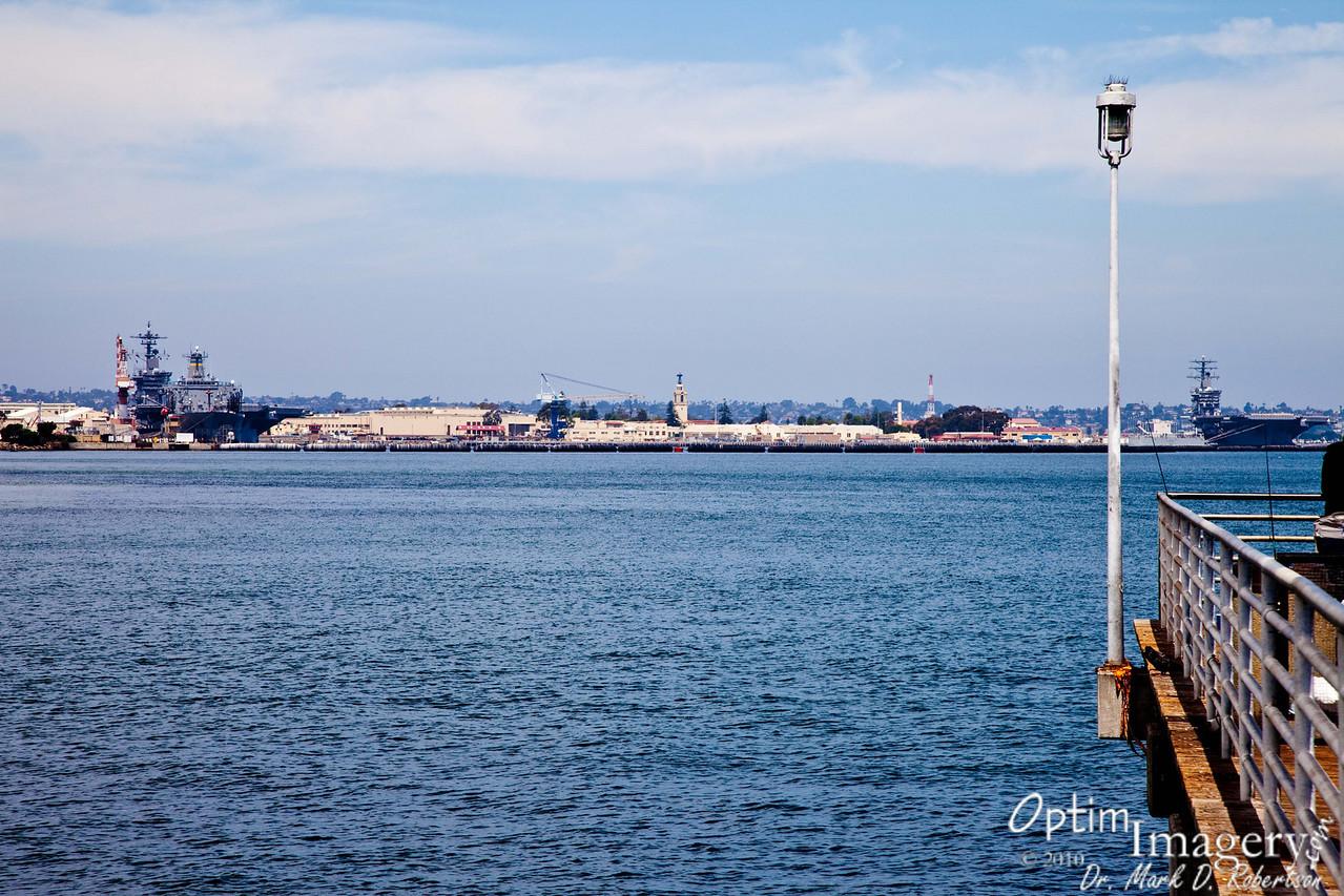 Looking toward the Naval Yard on Coronado Island.