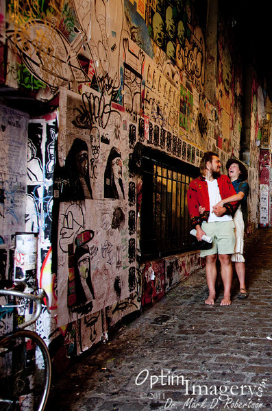 Across from the bubble gum wall.