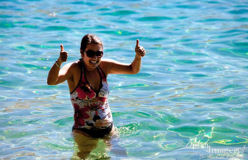 Taking a dip in the refreshing waters of pristine Lake Chelan.
