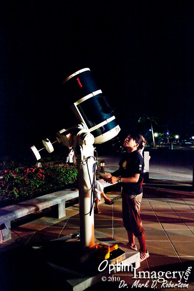 To cap the day off, we went to The Palms, where Atsuko Eck expertly guided us through the stars, planets, and our moon.