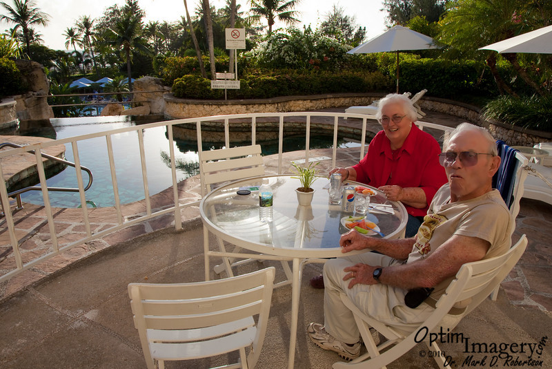 "A nice buffet ""continental"" breakfast is included -- poolside, if you like."