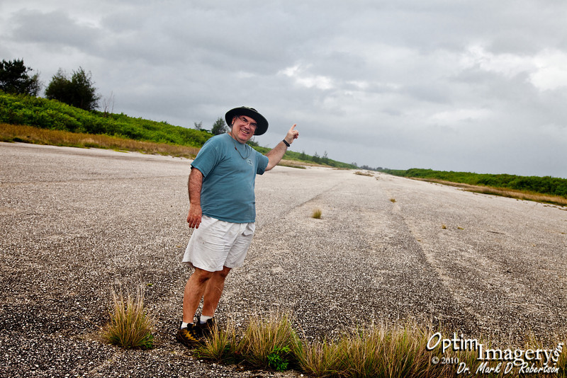 Right there is the very runway from which the Enola Gay took off to deliver the first atomic bomb to Japan.