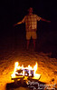 Ken Pierson flew in about the time the fire was raging at its best.