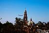 Balboa Park Tower from the Skyfari (gondola) at the San Diego Zoo.