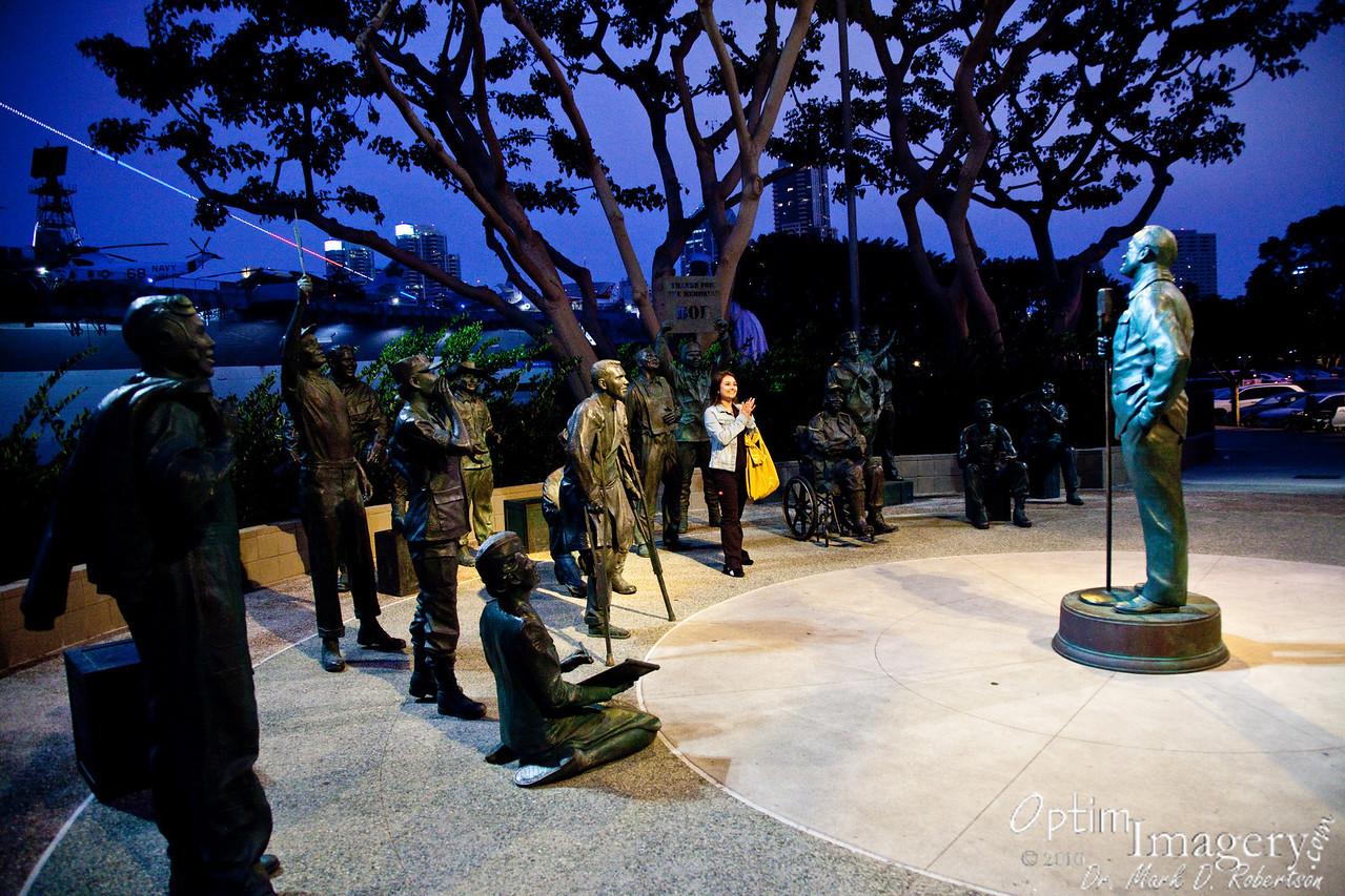 Memorial to Bob Hope, honoring his U.S.O. tours.