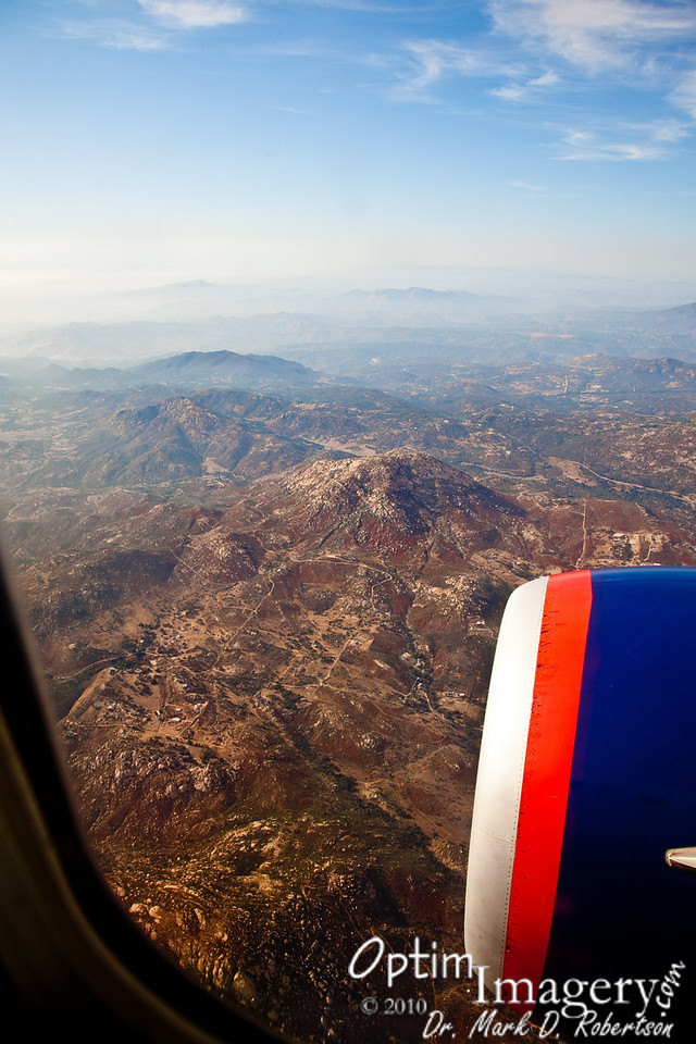 A thousand miles later.  On final approach to San Diego.