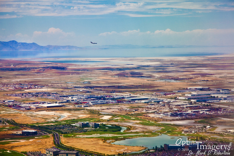 I do hope that the two of us are headed for different runways!<br /> <br /> The colors and landscape around the Great Salt Lake always impress me.