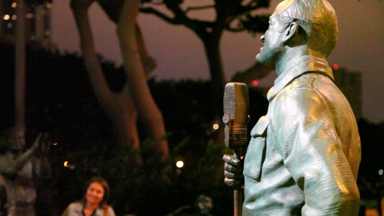 And, as you can tell from this video, even his voice is incorporated into this memorial.