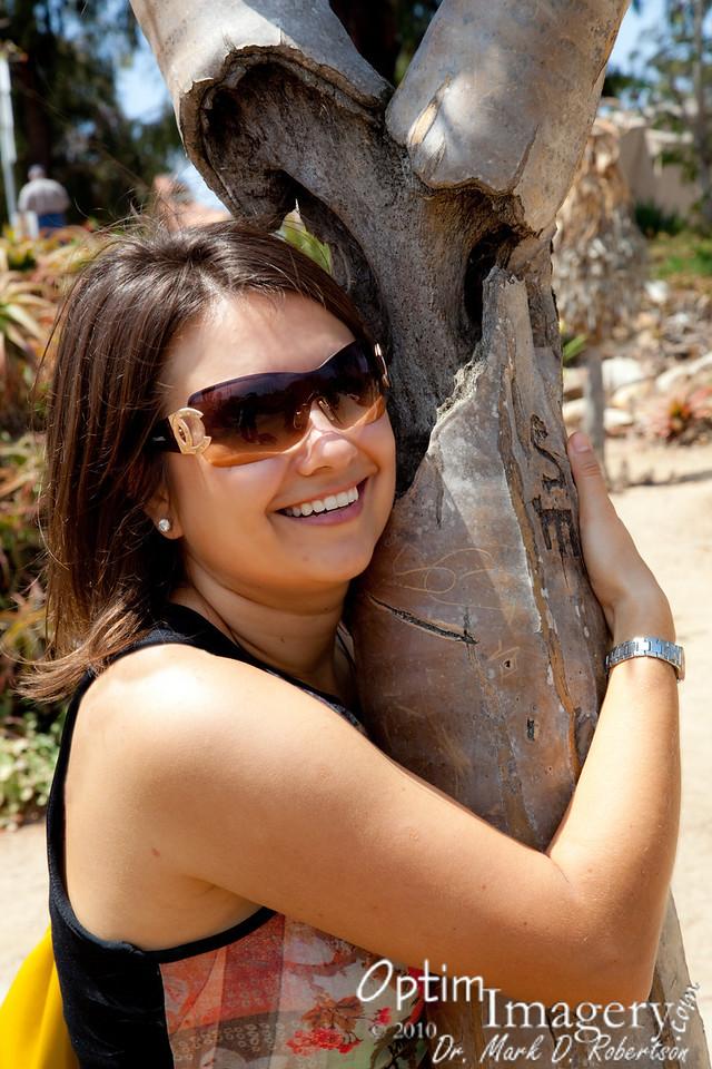 Yep, Olga is a real tree hugger.