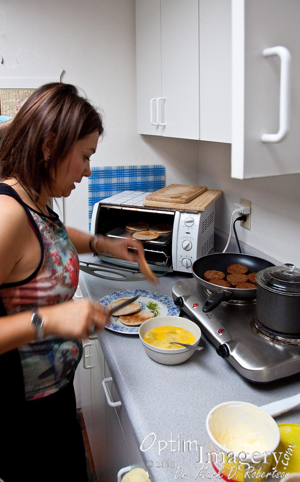 Olga came to our Bed & Breakfast bright and early AM on our first morning there and cooked us a wonderful breakfast.