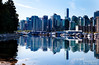 Vancouver from the banks of Coal Harbor (Stanley Park).  Can you find Mario?  Notice that he is the only one walking in this direction?