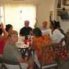 Mary McGee, Susan, Olga, Mark, Judy Hawkins, Rachel, Moon Ron at crumpet brunch