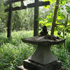 a shrine just off the road.