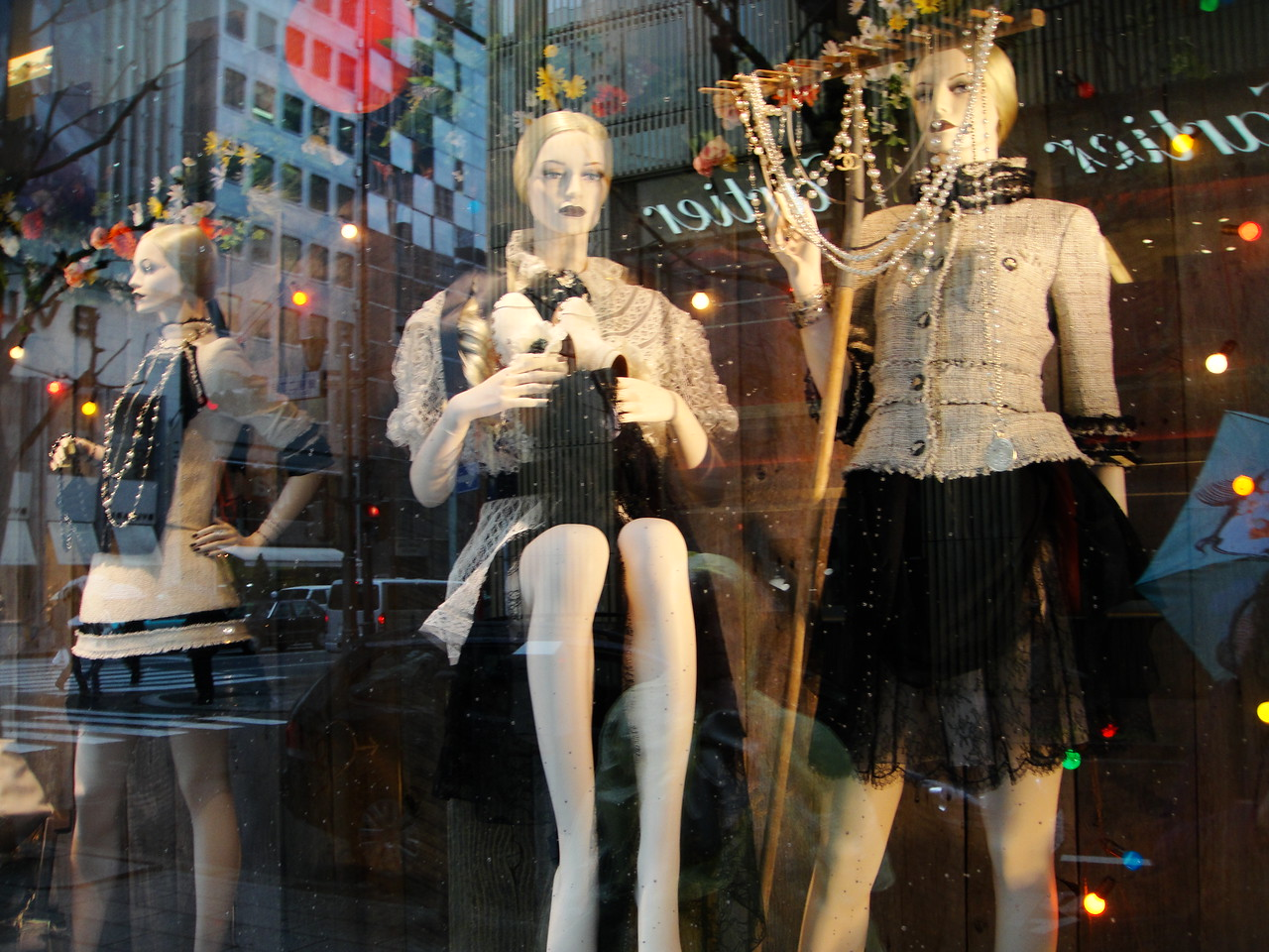 The shops were name brand stores.....Armani, Christan Dior, etc.  Clerks wore black suits and white gloves...purses at 3,500,000 yen ($35,000), watches at $65,000....