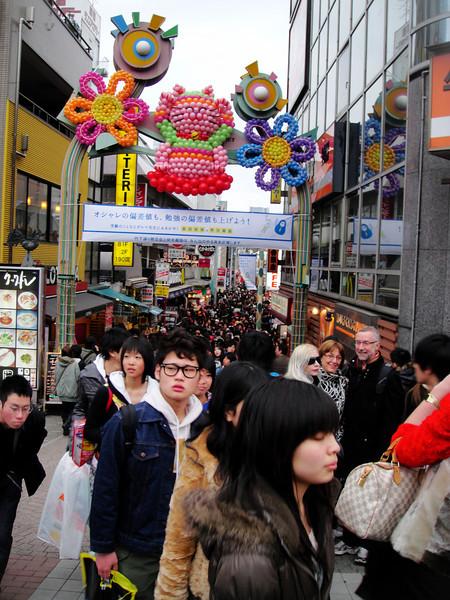 Takeshita street was great fun for Ashle!