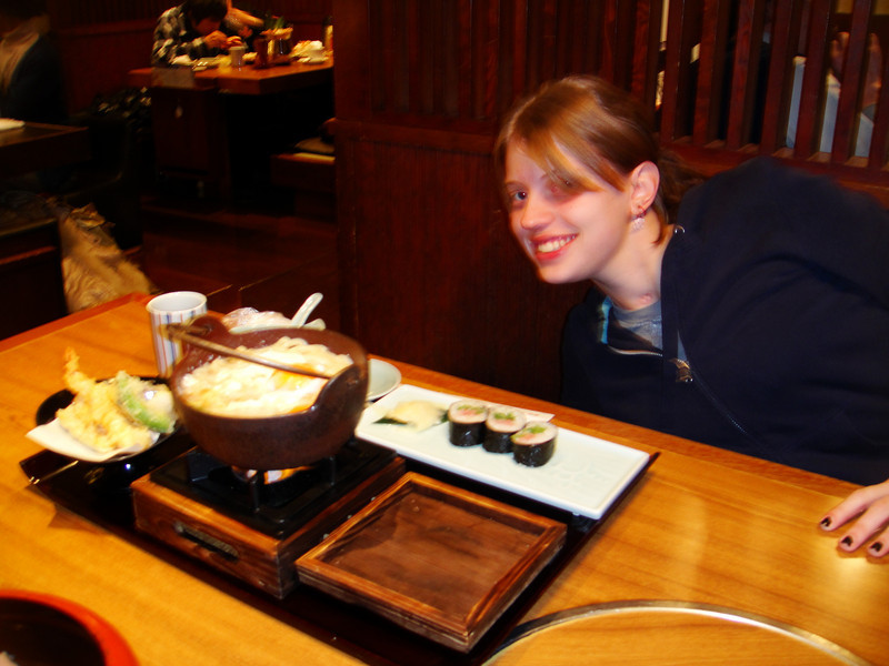 Tamayo took us to a great restaurant!  My soup came with a fire underneath so I could cook it the way I wanted it and keep it warm.  How NICE!  (raw egg on top)