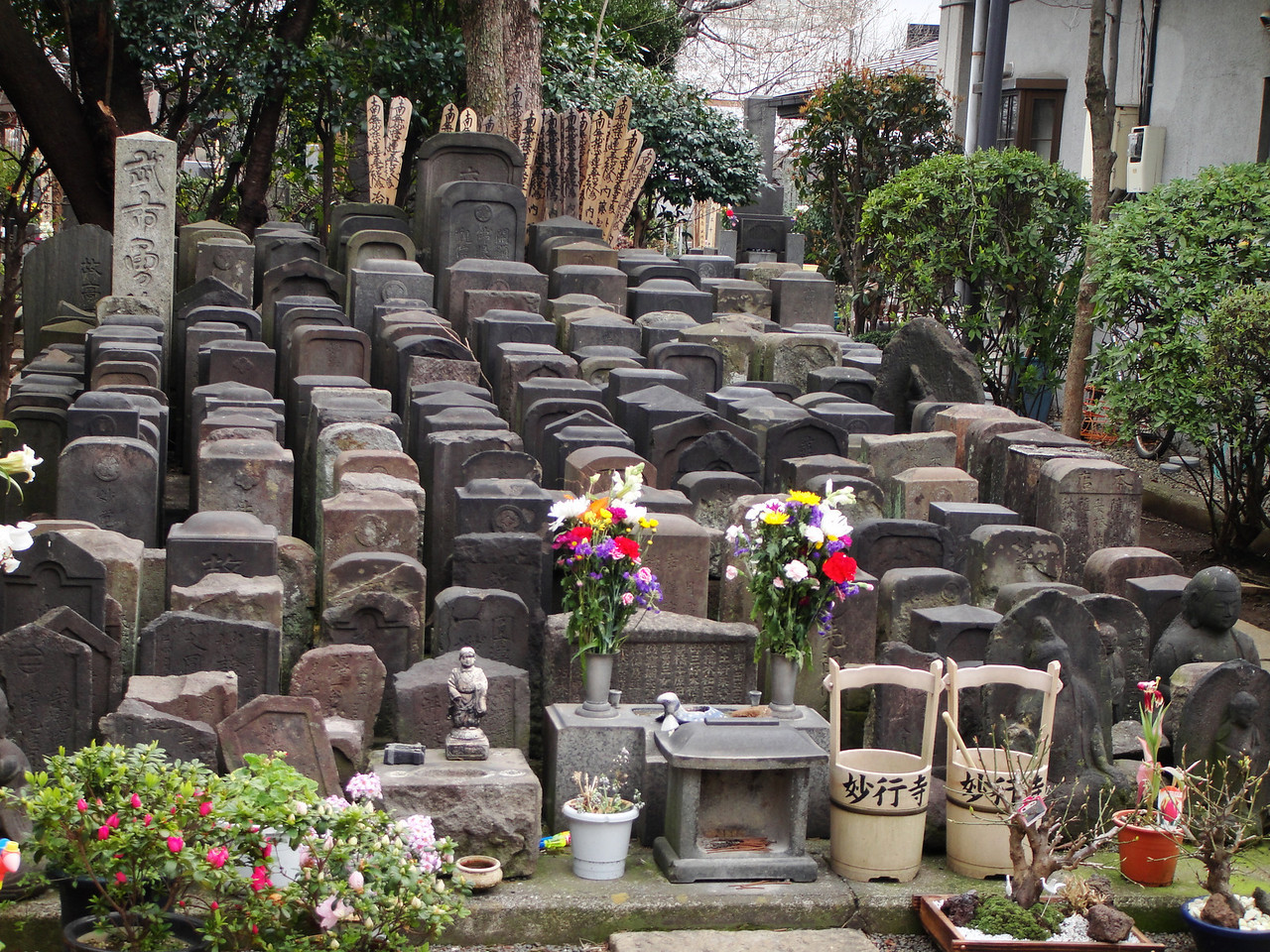 a cemetary for people who had no family.  They are prayed for daily by the monk on the premises.