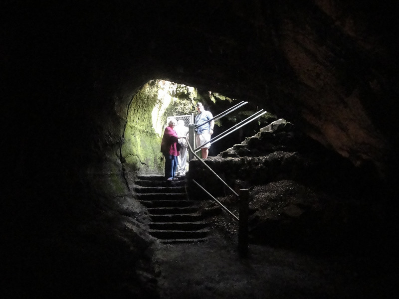 At the end of the tube there is an added opportunity to go back down into another one that is not lit.  Bill and Mark took that option while Corinne and I enjoyed the fresh air and singing birds.  Each to his own.