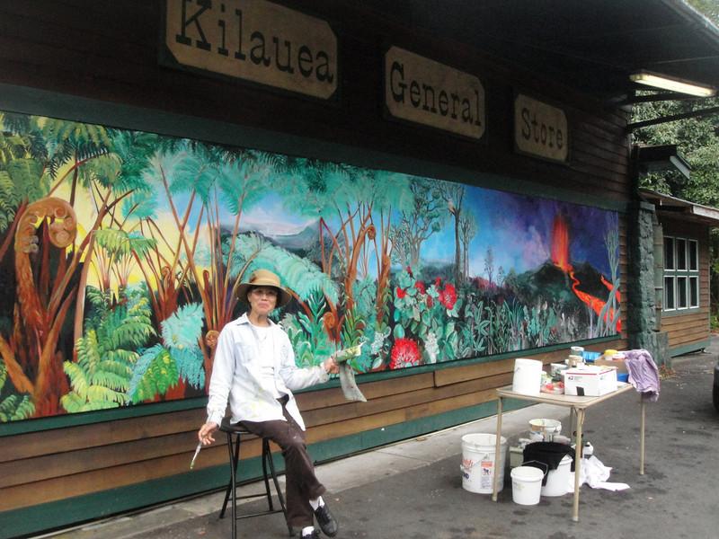 An interesting artist in Volcano.