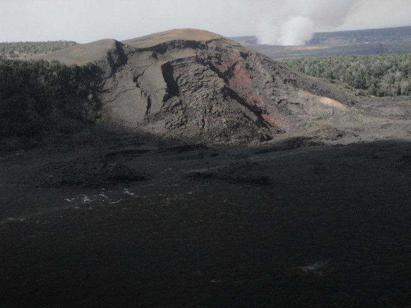 Where Mark and I had hiked a few days earlier, with the active steaming crater in the background.  So glad the wind stayed in the right direction so we didn't get into the 'smelly stuff'