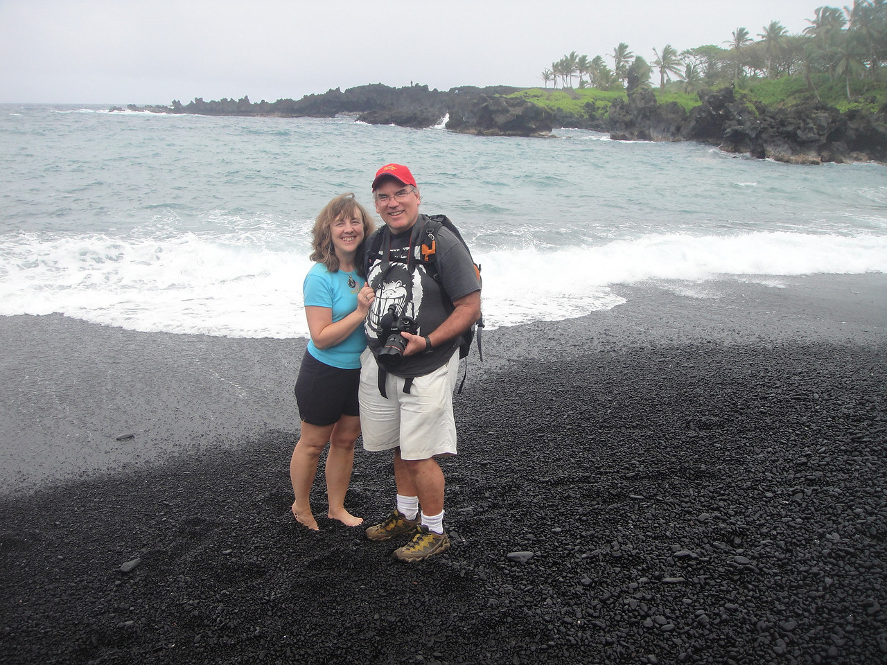 I didn't realize there were so many black sand beaches!  Love them!