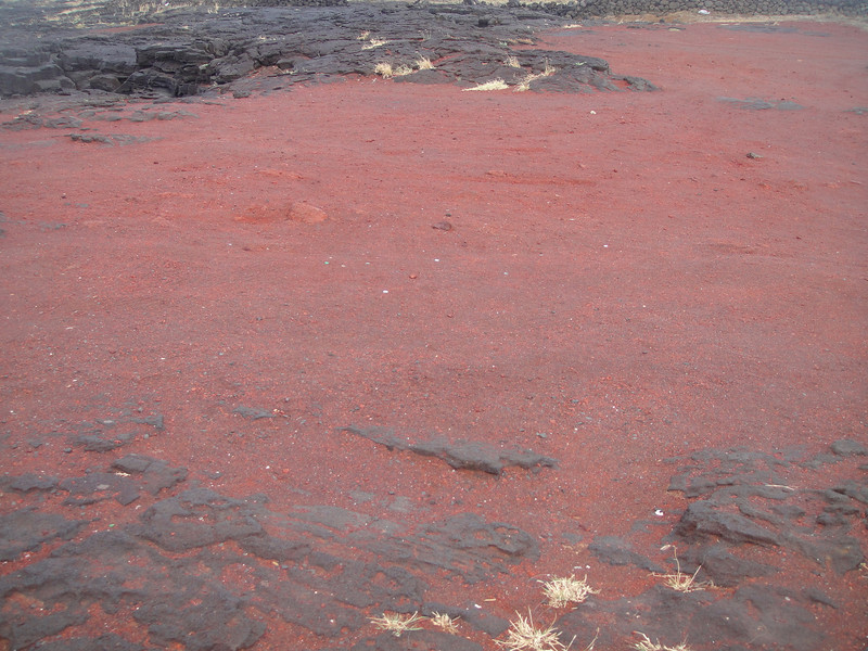 I was surprised at the color of this ground up lava
