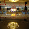 The Dynasty Hotel and Casino has a beautiful lobby.  In the center, under the chandelier there is an amazing echo.