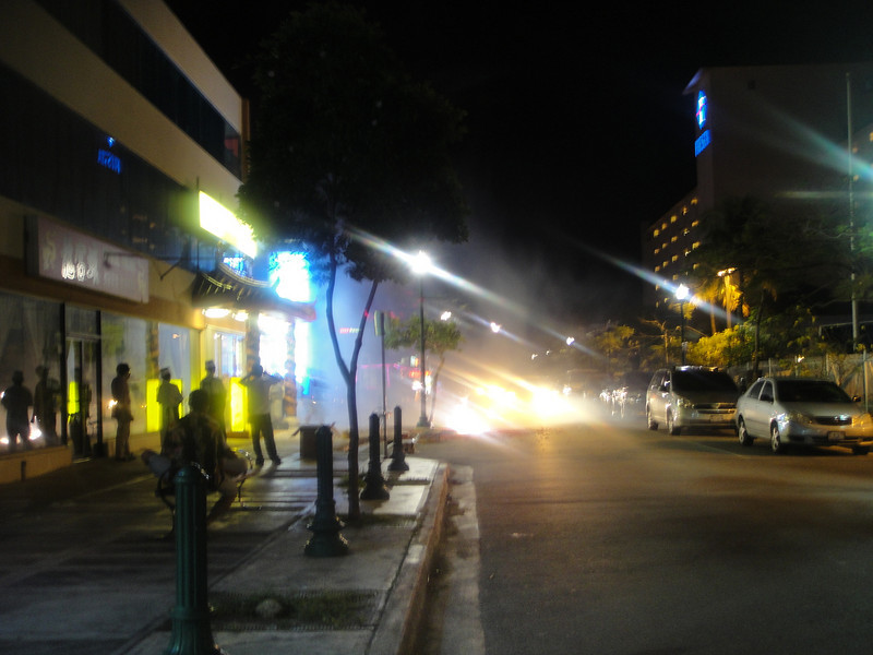 Yes, they also used the street as a place to set of the firecrackers and also the big ones.  Saw some risky tosses.
