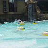 The wave machine was great fun.  When it really gets to going there are around 20 people with tubes, the water rises to ? 8 or 9 feet and dips to about 4 feet.  VERY active for around 10 minutes at a time, then the pool goes still.  Hang on to the TUBE!