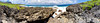 30-panel panorama of Suicide Cliff and the first cut.  A few odd distortions in this panorama, but you get the idea of the lay of the land.