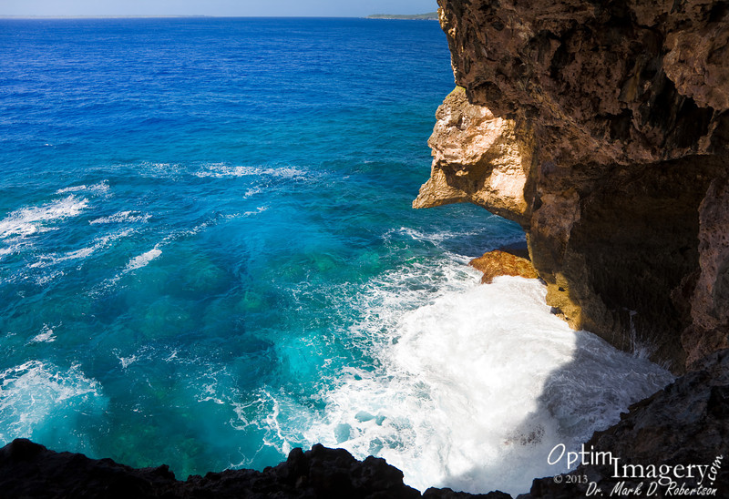 Here is the view that we go to the Dry Grotto for.  A GREAT place to relax, have a picnic, or just sit and watch the waves.  Because we are in a tunnel, we are out of the sun.  And there is nearly always a bit of a breeze blowing through.  A very comfortable place.