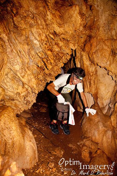 Fran enters into Honeycomb Cave.