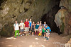 "Prior to heading down into the cave.  I have been told that Kalabera is Spanish for skull.  Can you see the ""skull"" it was named after in the background?  (Actually, some sources say it was named after the skull in the background, others say it was named this because there were skulls of decapitated Chamorro people when the Spaniards first found the cave.  From what I have been told, I believe the former)."