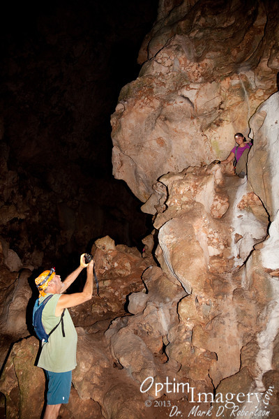 Kate climbed around a bit up the cave wall.